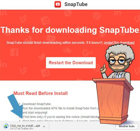 Descargar Snaptube desde PC