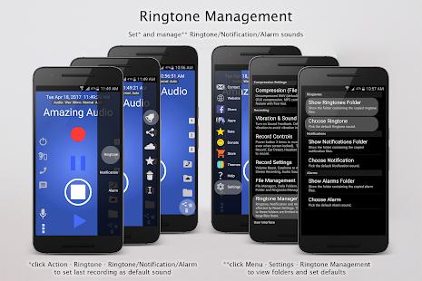 Increíble captura de pantalla de la grabadora MP3