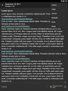 Mis notas: captura de pantalla del Bloc de notas