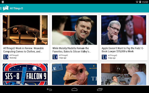 Paperboy | Feedly | RSS | Captura de pantalla del lector de noticias