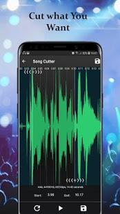 Captura de pantalla del cortador, grabador y reproductor de música sin conexión