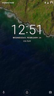Captura de pantalla del protector de pantalla de bloqueo inteligente