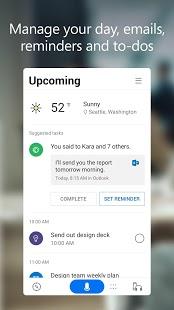 Microsoft Cortana - Captura de pantalla del asistente digital