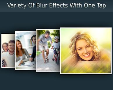 Efectos de desenfoque de fotos: captura de pantalla variada