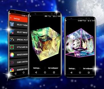 Captura de pantalla de Amazing Cube Live Wallpaper Pro