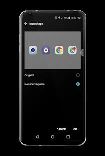 Captura de pantalla del tema Echo para LG V30 y LG G6