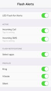 Notificación de flash para todas las capturas de pantalla