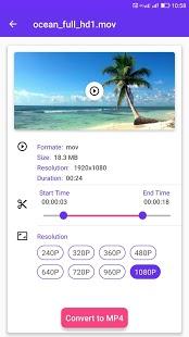 Compresor de video, captura de pantalla del convertidor