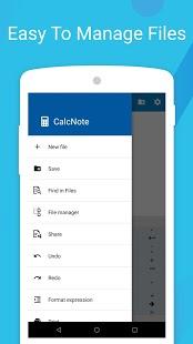 CalcNote - Captura de pantalla de la calculadora del Bloc de notas