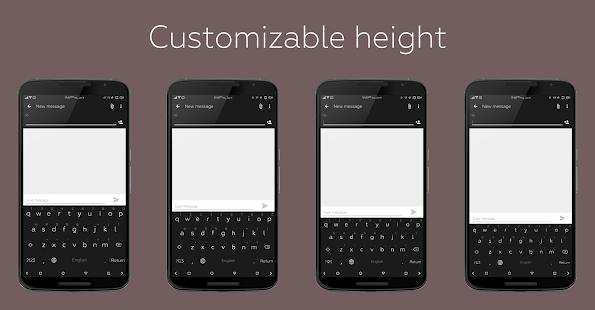Captura de pantalla del teclado de colores de estilo plano