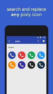 Pixly - Captura de pantalla del paquete de iconos de Pixel 2