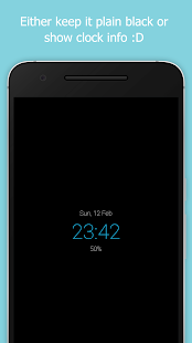 Blackr: Pantalla AMOLED apagada y captura de pantalla de superposición de pantalla negra