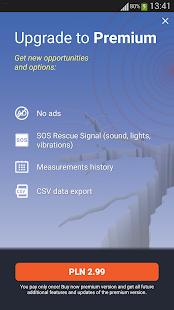 Captura de pantalla del medidor de vibraciones