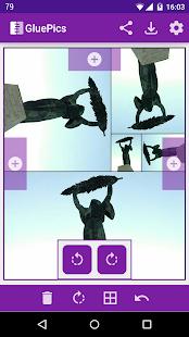Captura de pantalla de GluePics