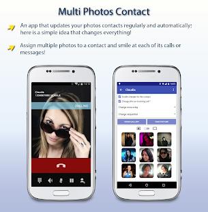 Captura de pantalla HD de contacto de múltiples fotos