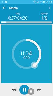 HIIT - captura de pantalla del entrenamiento de intervalos PRO