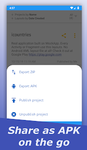 Captura de pantalla de MockApp