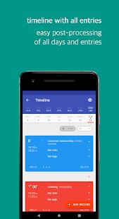 Swipetimes ›Rastreador de tiempo · Captura de pantalla del registro de trabajo