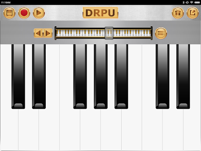 Piano Keyboard Music Pro - Captura de pantalla de la aplicación DRPU PIANO Learning
