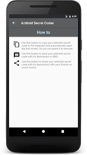 Códigos secretos para captura de pantalla de Android