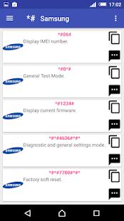 Captura de pantalla de códigos secretos