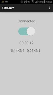 Ultrasurf (beta) - Captura de pantalla de proxy VPN gratuita ilimitada