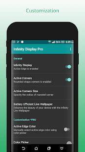 InfinityDisplay PRO: captura de pantalla del simulador de pantalla curva 3D