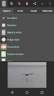 Viñeta • Captura de pantalla de efectos fotográficos