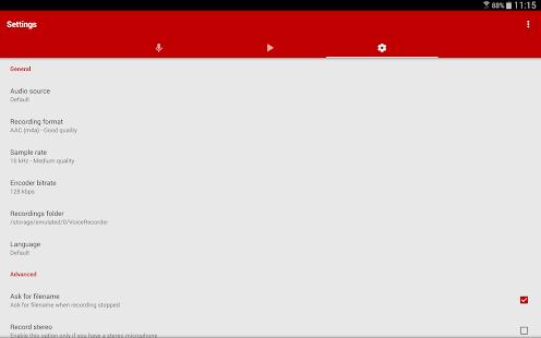 Captura de pantalla de Voice Recorder Pro
