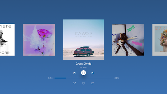 Spotify - Captura de pantalla de música y podcasts