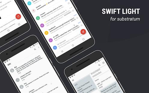 Captura de pantalla del tema Swift Light Substratum