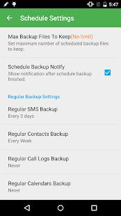 Super Backup Pro: Captura de pantalla de SMS y contactos