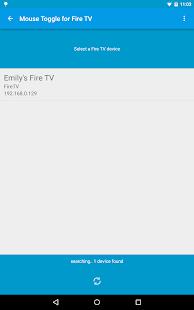 Alternar el mouse para la captura de pantalla de Fire TV