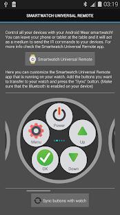 Captura de pantalla del SmartWatch Universal Remote