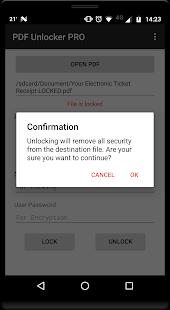 Captura de pantalla de PDF Unlocker Pro