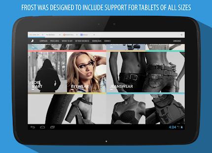 Captura de pantalla del navegador Frost + Incognito
