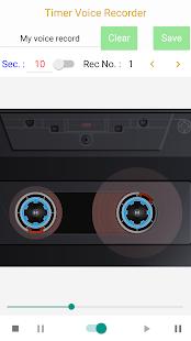 Captura de pantalla de la grabadora de voz con temporizador (pago)