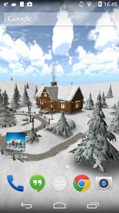 Winter 3D, captura de pantalla del clima real