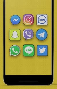 Cloth - Captura de pantalla del paquete de iconos