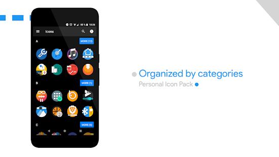 Captura de pantalla del paquete de iconos personales