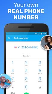 Envíame un mensaje de texto: sin texto, llamada gratuita, captura de pantalla del segundo número de teléfono