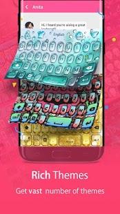 Hola teclado: etiqueta engomada de Emoji, GIF, captura de pantalla del tema animado