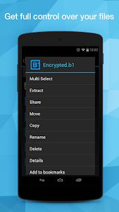 Captura de pantalla del archivador y administrador de archivos B1