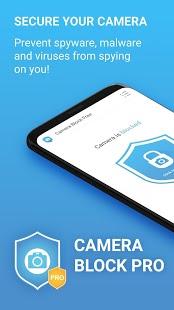 Camera Block Pro - Captura de pantalla de la aplicación antimalware y antispyware