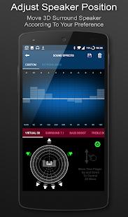 Captura de pantalla del reproductor de música envolvente 3D