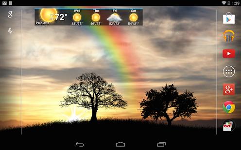 Captura de pantalla de Sun Rise Pro Live Wallpaper