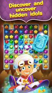 Genios y gemas: captura de pantalla de la aventura a juego de joyas y gemas