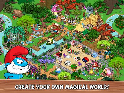 Captura de pantalla de la aldea de los pitufos