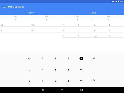 Una calculadora: captura de pantalla de la calculadora científica