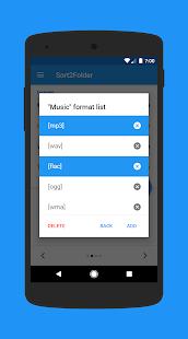 Sort2Folder - Captura de pantalla del clasificador de archivos